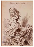 Блокнот Алиса в стране чудес (Алиса и коробка) (крафт) (БТ2017-112)