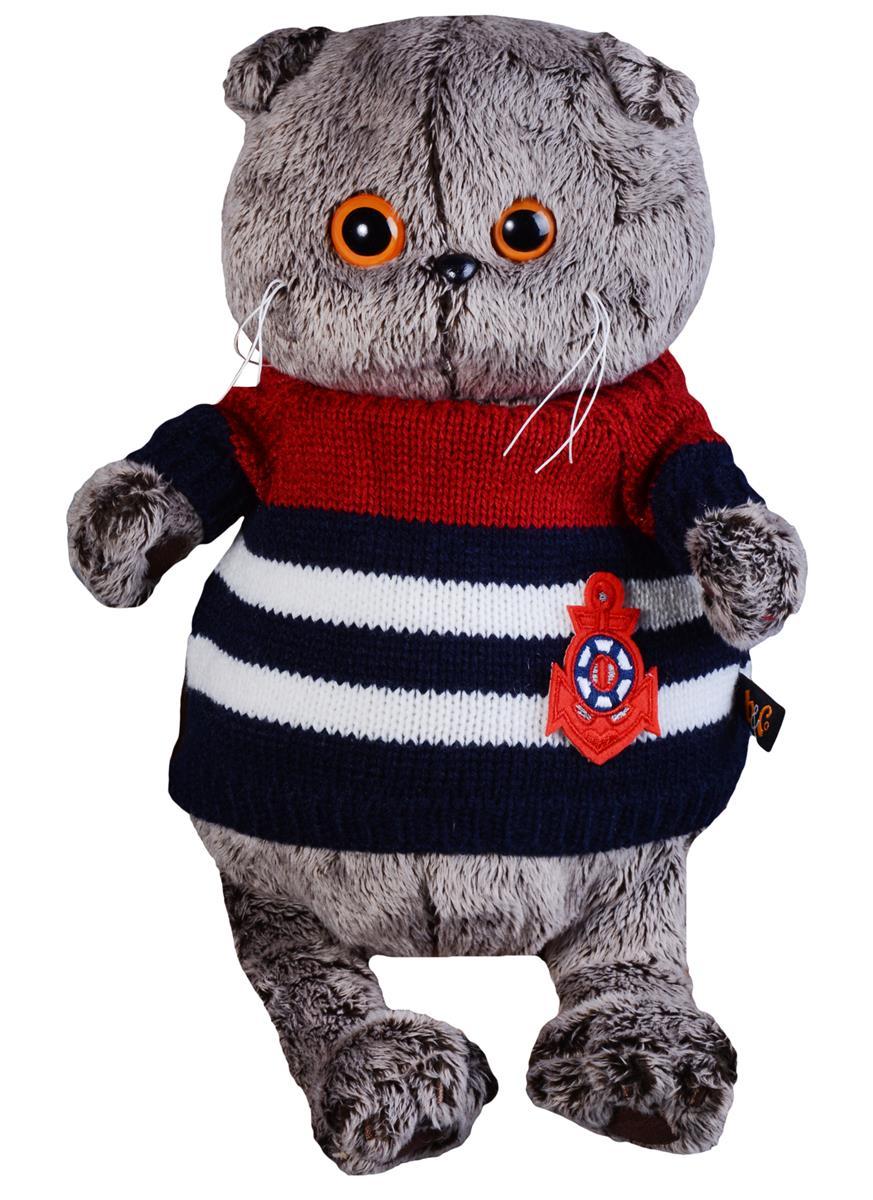 Мягкая игрушка Басик в морском свитере (25 см)