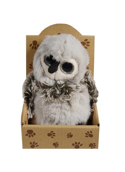Мягкая игрушка Сова серая (в крафт коробке)