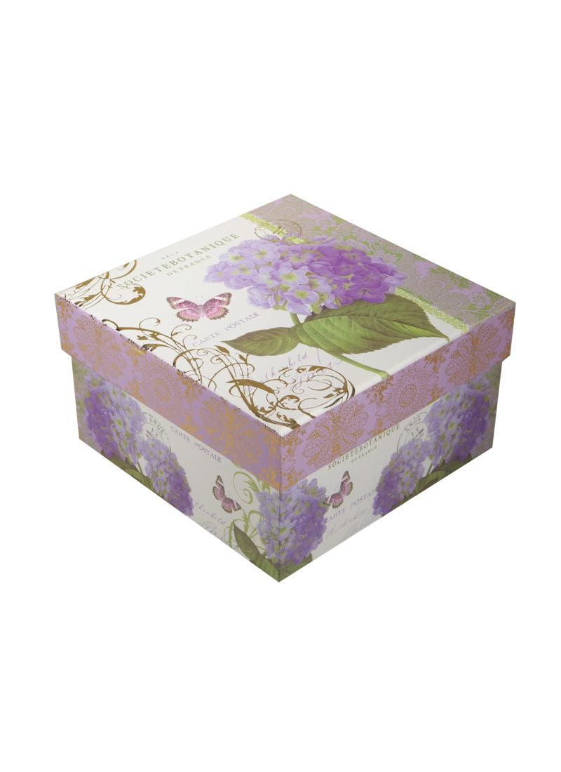 """Коробка подарочная """"Гортензия"""" 17*17*8,5см"""