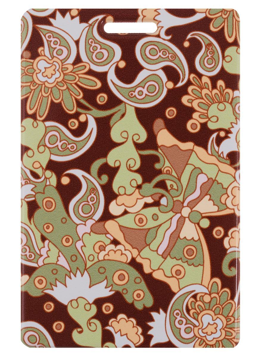 Чехол для карточек Узор Пейсли и бабочка