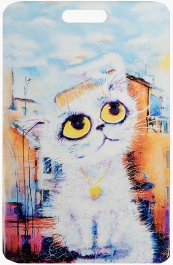 """Чехол для карточек """"Cat in the City: Облакокошечка"""""""