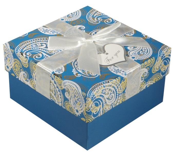 """Коробка подарочная """"Белые огурцы"""" 9*9*5.5см"""