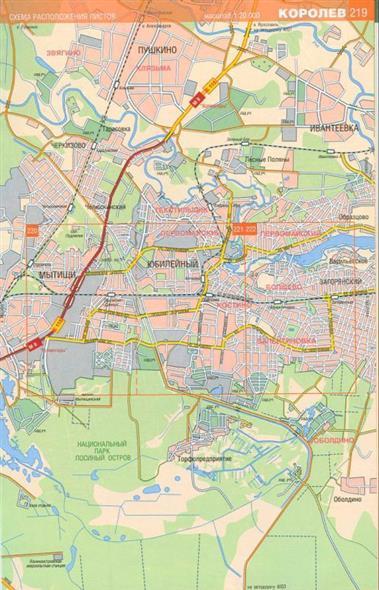 Карта-схема города Королев