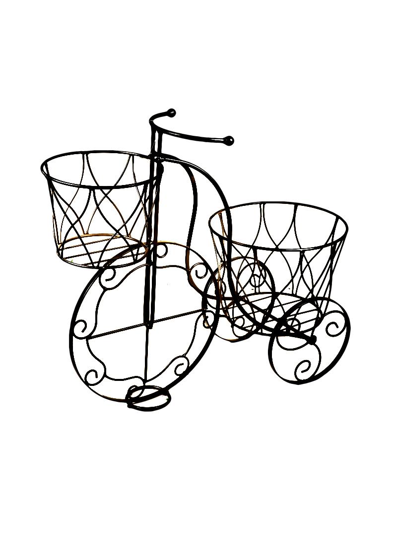 Кашпо металл Велосипед черный (41*18*35) (36798)