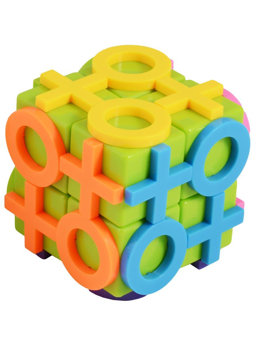 Головоломка кубик Крестики-Нолики (цветная) (2х2)
