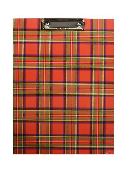 """Планшет А4 """"Шотландка"""" ламинированный картон, Index"""