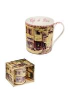 Кружка Парижское Кафе (400 мл) (M-400 Cafe) (костяной фарфор) в подарочой коробке GiftLand