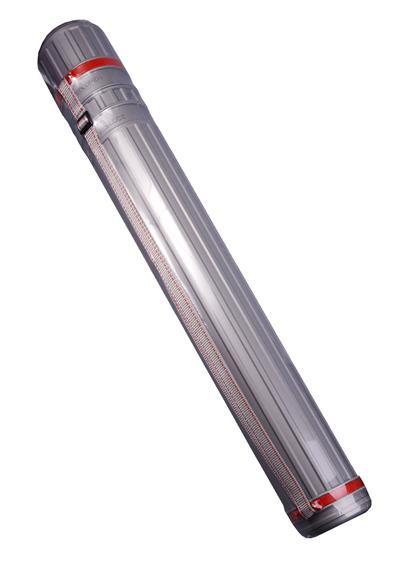Тубус для чертежей телескопический D83мм L645-1100мм на ремне, серый, JJ