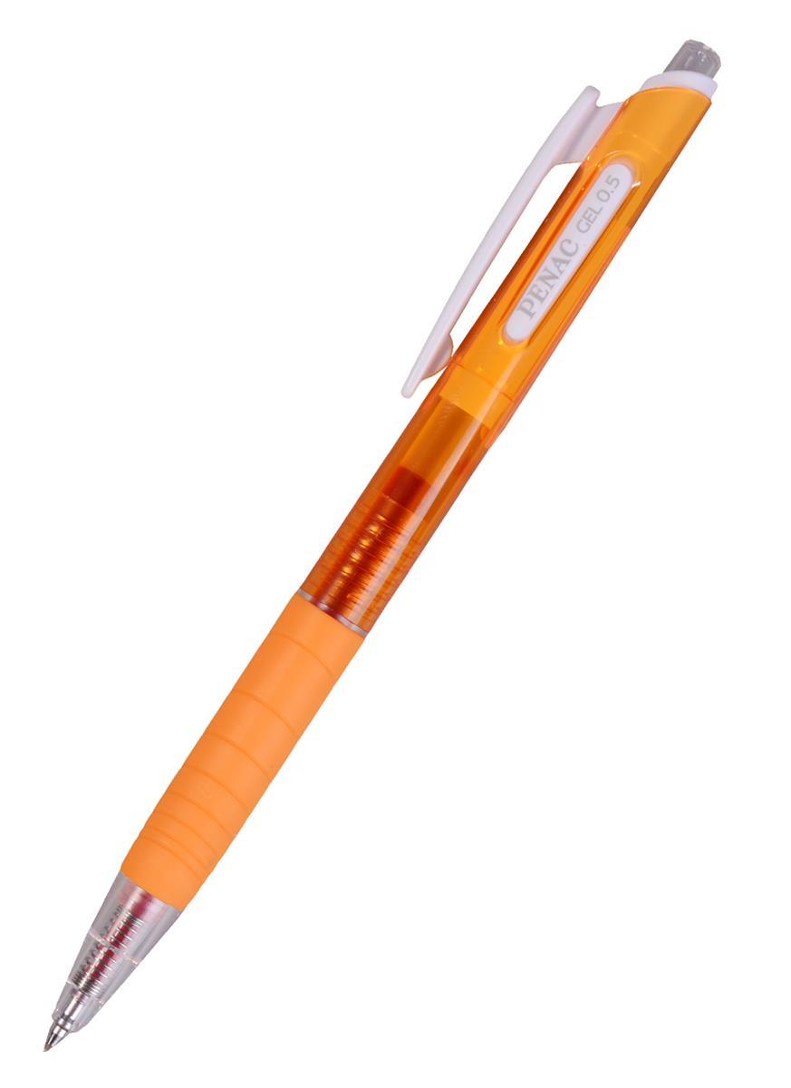 Ручка гелевая автоматическая оранжевая