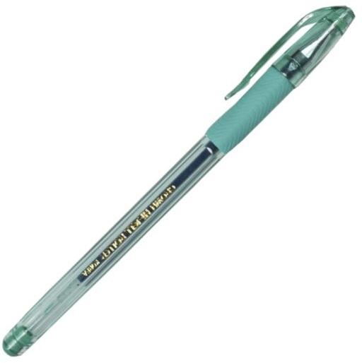 Ручка гелевая 0.7мм, зеленая, CROWN