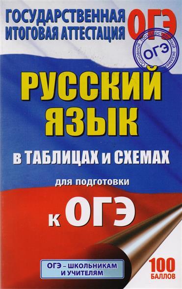 Текучева И.: ОГЭ. Русский язык в таблицах и схемах. 5-9 классы. Справочное пособие