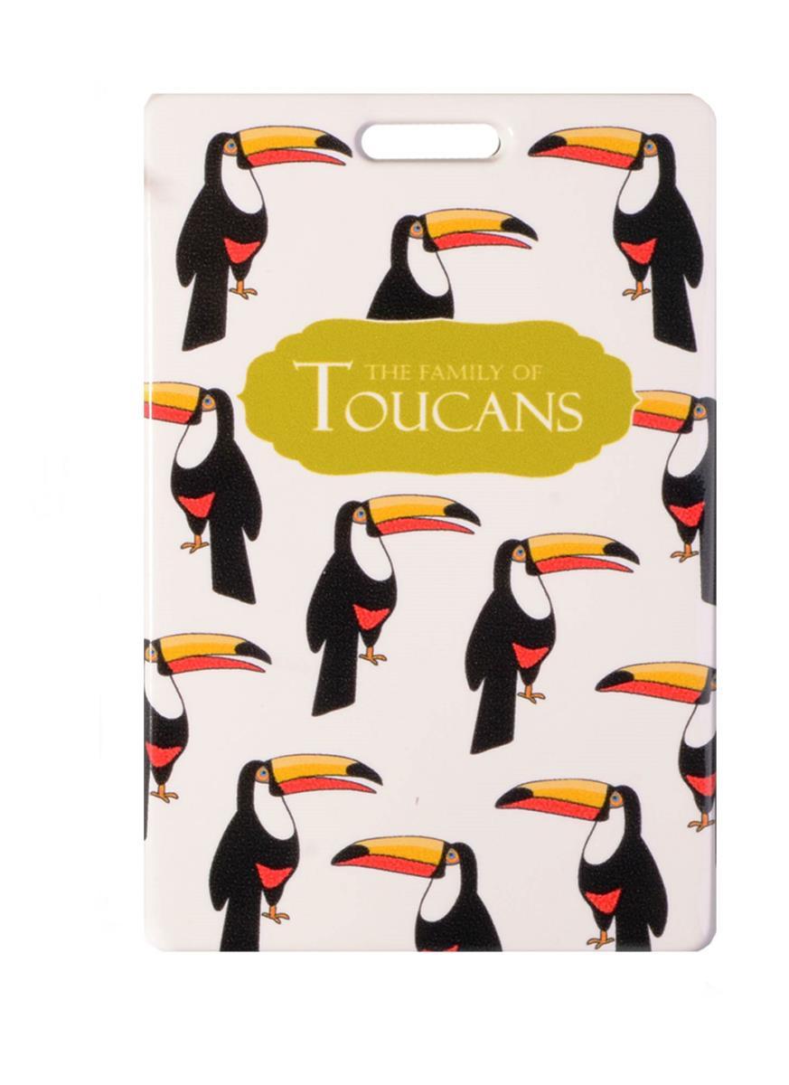 Чехол для карточек Туканы