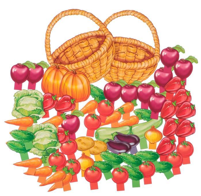 Цветкова Т. Корзинка с овощами. Оформительский и Дидактический набор. 64 картинки т в цветкова чувства и эмоции раздаточные картинки набор из 16 карточек