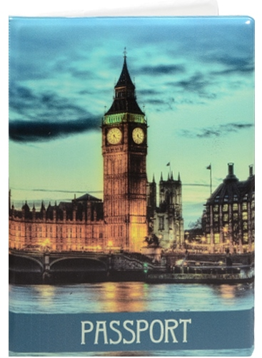 """Обложка для паспорта """"London: Вечерний город"""""""
