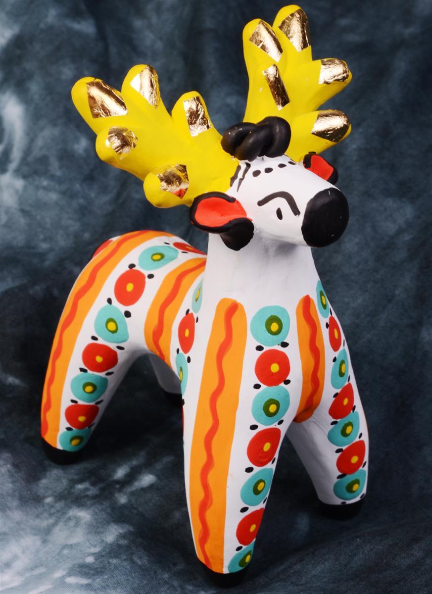 Дымковская игрушка Олень №4 (11 см)