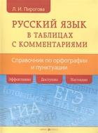 Русский язык в таблицах с комментариями. Справочник по орфографии и пунктуации