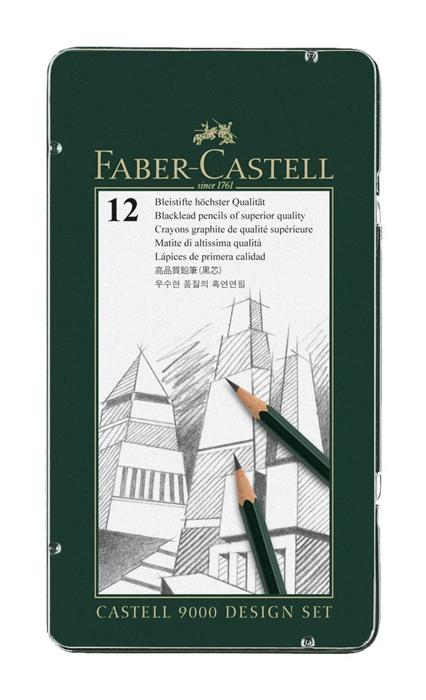 """Карандаши чернографитные """"Castell-9000"""", 12шт: 6H-2B"""