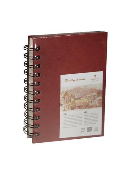 """Скетчбук А6 62л """"Travelling sketchbook""""  слоновая кость, рисов.бумага 130г/м2, пружина слева, Гознак"""