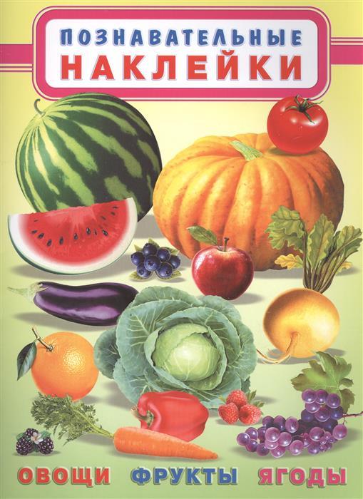 Овощи, фрукты, ягоды. Познавательные наклейки