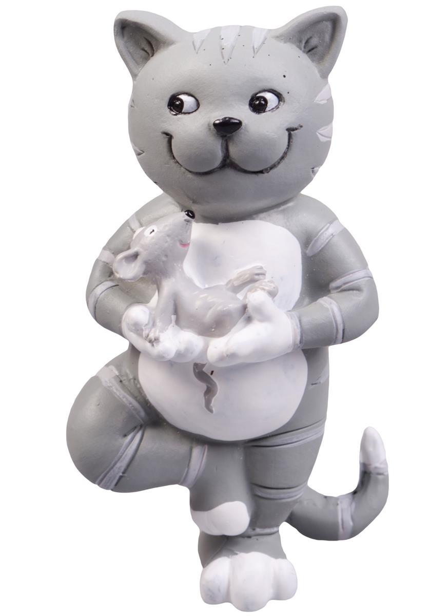 Фигурка Йога-кот (4х6х10)