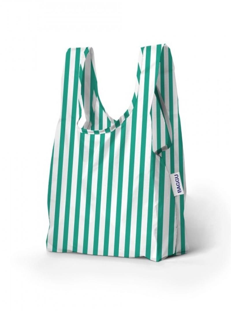 Сумка BAGGU BABY Mint Stripe (BG.BABY.1606) (Эколофт)