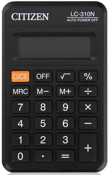 Калькулятор карманный CITIZEN LC-310N