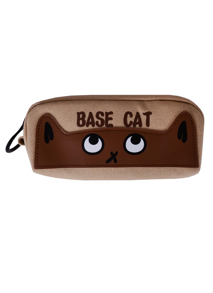 Пенал с большой молнией Base cat (23х9) (ткань) (ПВХ бокс)