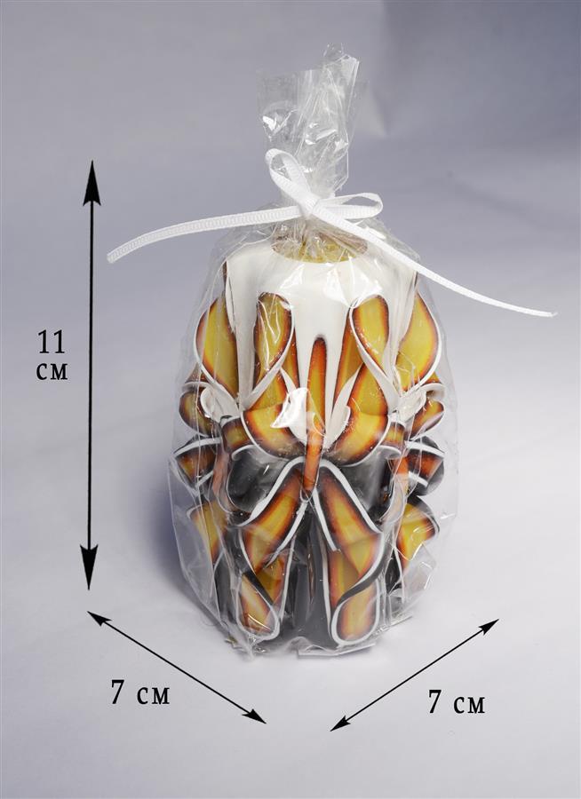Свеча резная Бабочка-краса Огненная (11 см)