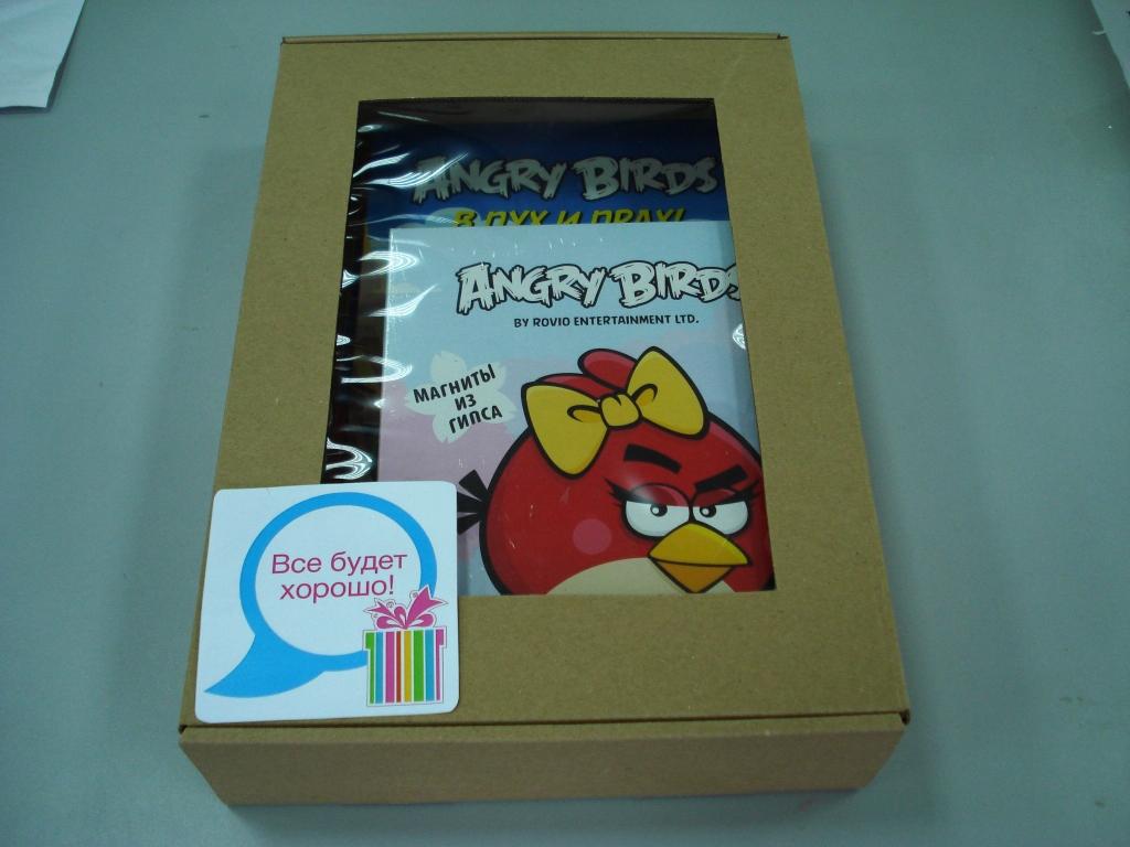 Набор 7 б (Angry birds Раскраски+набор для тв-ва)