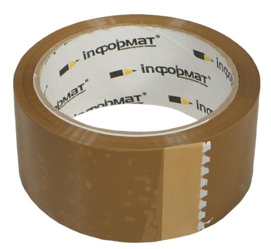 Лента клейкая коричневая, 50мм*66м, inФормат