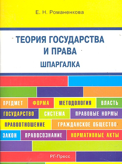 Теория государства и права Шпаргалка