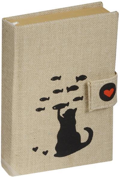 """Блокнот """"Черная кошка"""" с застежкой на кнопке"""