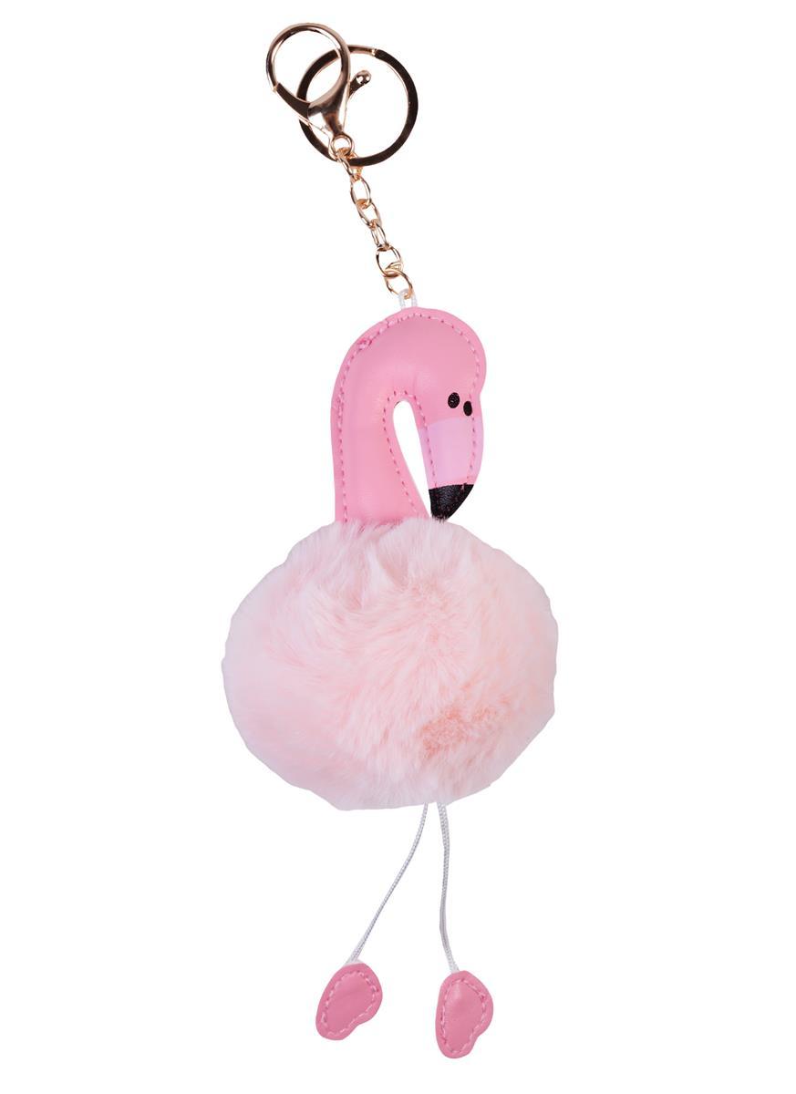 "Брелок-помпон ""Фламинго с ножками"", 7см"