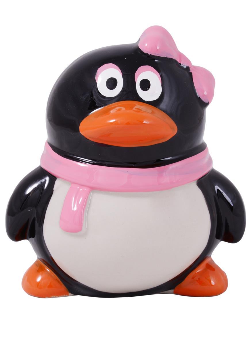 Копилка Пингвин с шарфом (керамика) (10,5х8,5)