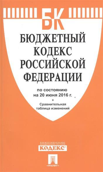 Бюджетный кодекс Российской Федерации по состоянию на 20 июня 2016 г. Сравнительная таблица изменений