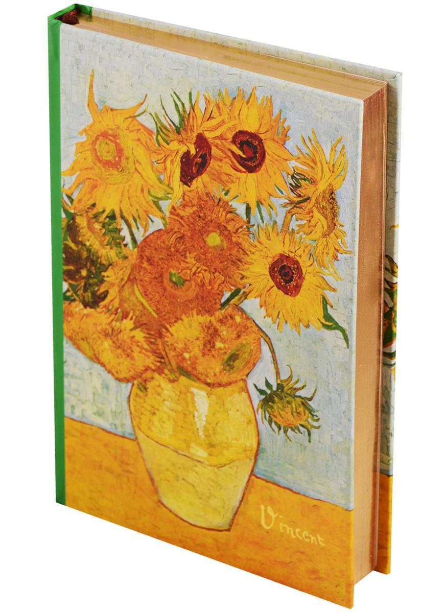 Блокнот Ван Гог Подсолнухи (золотой обрез)