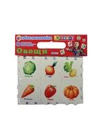 Кубик-развивайка. Овощи. 6 деталей-пазлов из мягкого материала нового поколения! От 1 до 3 лет