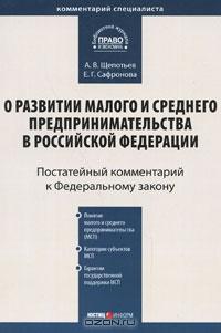 Комм. к ФЗ О развитии мал. и средн. предприним. в РФ