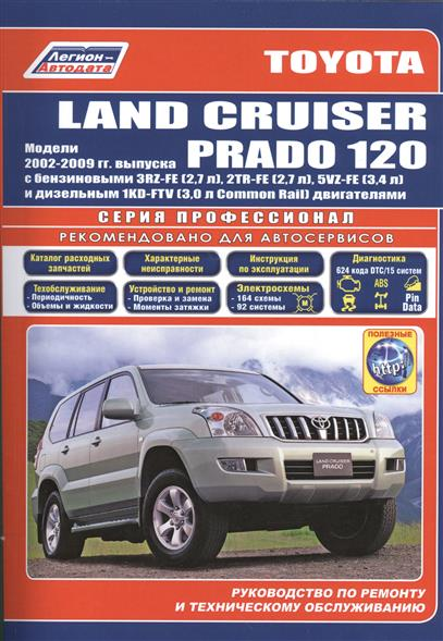 Toyota Land Cruiser Prado 120. Модели 2002-2009 гг. Руководство по ремонту и техническому обслуживанию mzorange rear fog light reflector for toyota land cruiser prado 2010 2011 2012 2013 2015 lc150 grj150 rear bumper fog lamp