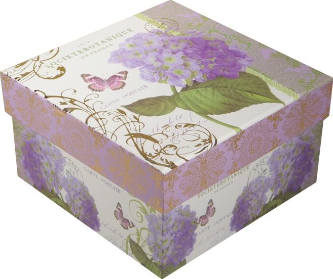 """Коробка подарочная """"Гортензия"""" 15*15*7,5см"""