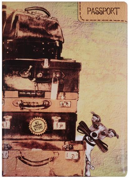 Обложка для паспорта My Adventures (чемоданы)