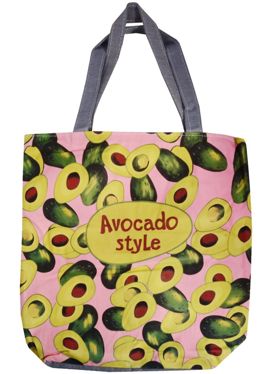Сумка на молнии Avocado style (38х35) (текстиль, флис)