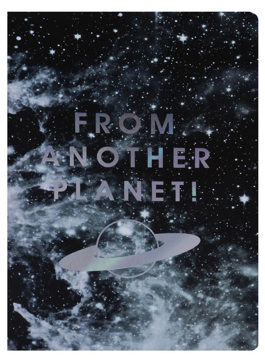 """Записная книжка А6 40 листов линейка """"From another planet"""""""