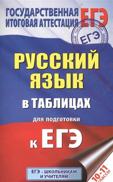 Савченкова Г.: Русский язык в таблицах для подготовки к ЕГЭ. 10-11 классы
