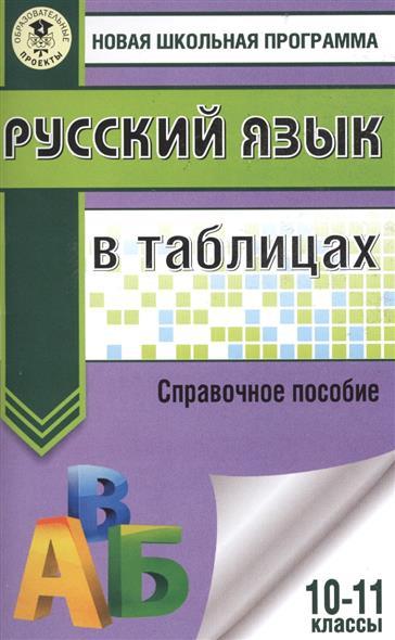 Русский язык в таблицах. 10-11 классы. Справочное пособие