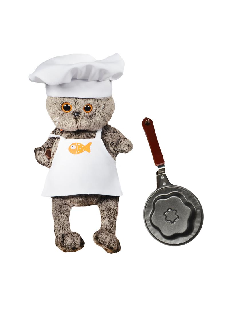 Мягкая игрушка Басик шеф-повар со сковородкой (25см) (Ks25-021) (Буди Баса)
