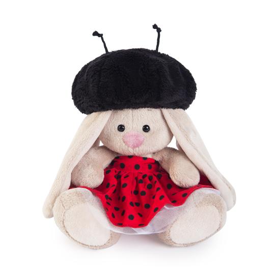 Мягкая игрушка Зайка Ми в костюме божьей коровки (15 см)