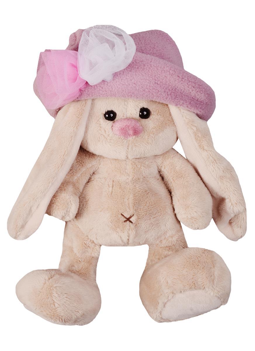 Мягкая игрушка Зайка Ми в шляпе с розами (15 см)