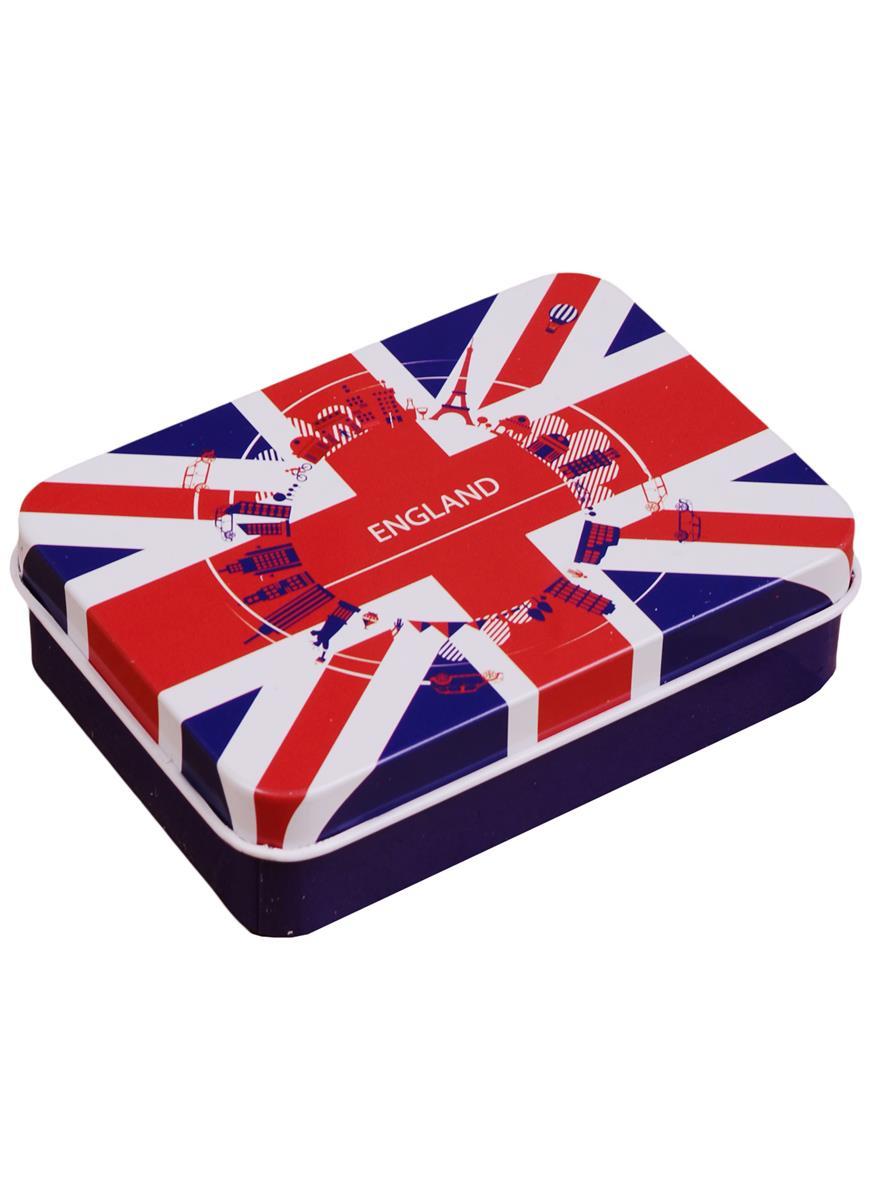 Шкатулка Британский флаг (9х7х3) (металл)